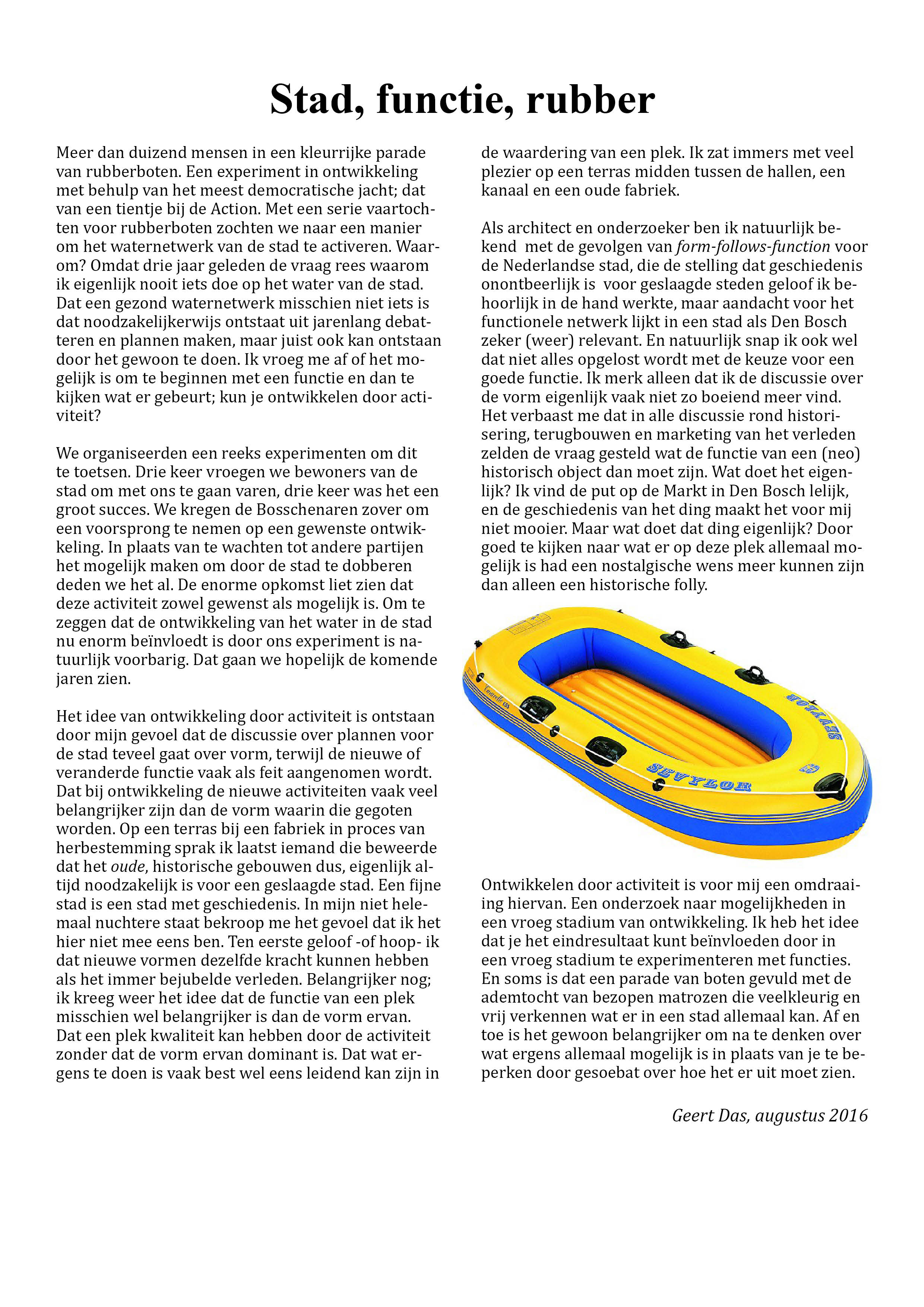 Stad functie rubber